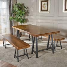 bench dining room table modern bench dining room sets allmodern