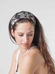 black headbands women s black diamond elephant headband that saves elephants the