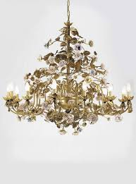 porcelain chandelier roses chandelier with a made of porcelain gold villari luxury
