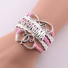 bangle style charm bracelet images Love mom grandma infinity bracelets in multiple colors styles jpg