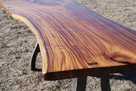 Natural Wood Furniture by Natural Edge Slab Table Life In The Corner