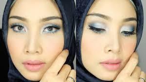 tutorial make up wardah untuk pesta blue eyeshadow look 2 riasan mata eyeshadow biru irna dewi