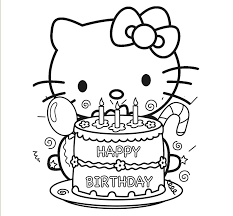 coloring pages for birthdays printables hello kitty birthday coloring pages free to print