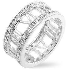 numeral ring silver numeral zirconia ring somi jewellery