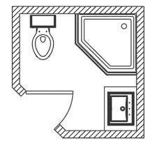 Small Bath Floor Plans Small Bathroom With Shower Floor Plans Modern Home Design