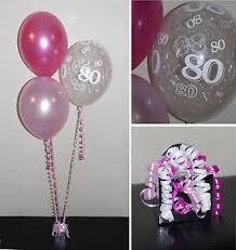 birthday helium balloons 80th birthday helium balloons diy party decoration kit clusters