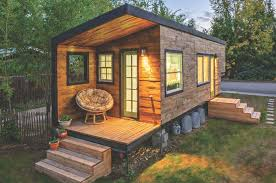 Tiny House Deck by Decorations Minimalist Tiny House With Small Patio And Rustic