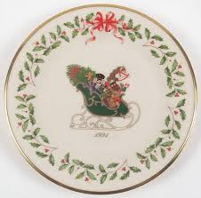 christmas plate lenox annual christmas plate at replacements ltd