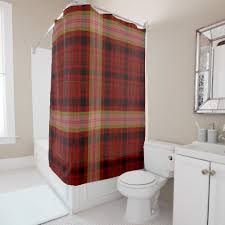 Design Your Own Shower Curtain Red Plaid Shower Curtain Plaid Shower Curtain Red Plaid And