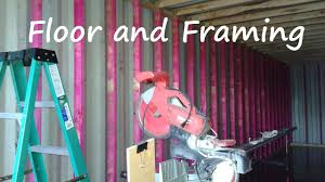 3 container home floor and framing at container acre youtube