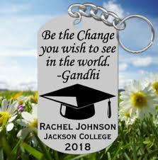 graduation keychain ghandi graduation keychain gift personalized free w name be