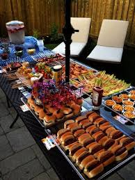 cuisine outdoor outdoor bbq i like that all of the food is mini