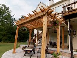 Building A Pergola On Concrete by Pergola Attached To Front Of House How Build Garden Howtos Diy