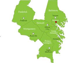 State Of Maryland Map by Service Areas In Maryland