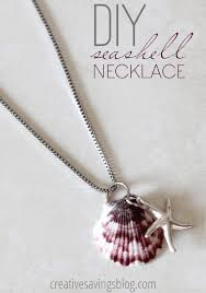shell necklace making images How to make your own seashell jewelry 9 diy shellicious tutorials jpg