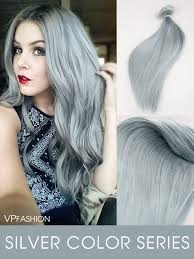 silver hair extensions solid silver indian remy clip in hair extensions cs035 vpfashion