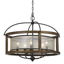 cal lighting mission 5 light drum chandelier decor u0026 furnishings