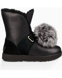 lyst ugg uptown emalie leather wedge boots in black ugg emalie leather wedge boots in black lyst