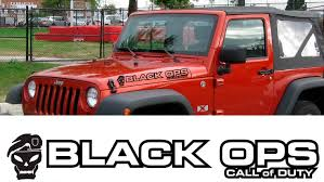 jeep black rubicon product pair jeep decal black ops call of duty wrangler hood