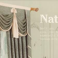 embossed retro window curtains no valance
