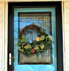 best way to hang a wreath on a glass door artificial wreaths
