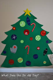 felt christmas tree archives what does she do all day