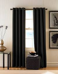 decorating appealing grommet curtains with classic chandelier and