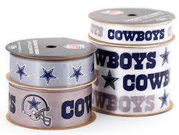 dallas cowboy ribbon dallas cowboys licensed nfl ribbon