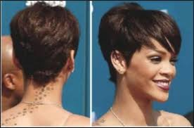 front and back pictures of short hairstyles for gray hair rihanna short hairstyles front and back hair
