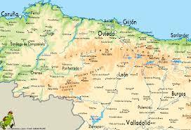 Asturias Spain Map by Ruta De Los Palacios