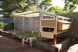 small chicken coop with chicken coop inside dog run 12178