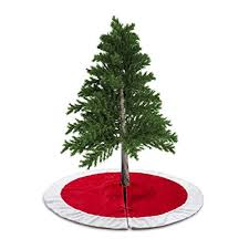 White Christmas Decorations Large by Amazon Com D Fantix 48 Inch Traditional Velvet Christmas Tree