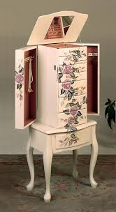 Jewelry Chest Armoire Hand Painted Floral Jewelry Armoire Lingerie Chest By Coaster