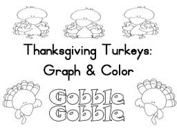 thanksgiving turkey graph and color by crowson tpt