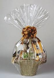 how to wrap a gift basket in cellophane wrapped gifts wraps and