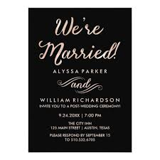 wedding ceremony card faux gold and black post wedding ceremony card zazzle