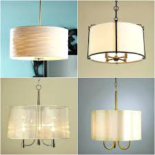 candle chandeliers non electric rectangular linen drum pendant