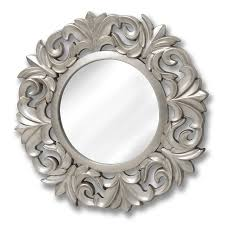 25 best baroque style mirrors baroque style round silver mirror happy home interiors inside baroque style mirrors image 8