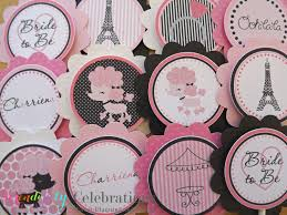 set of 12 personalized ooh la la collection cupcake toppers