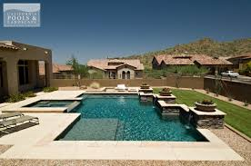 ideas modern pools with pool fountain and pool lounge plus green