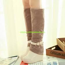 womens knee high boots canada exclusive womens wedge heel floss knee high boots beige sale