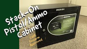 stack on ammo cabinet stack on pistol ammo steel cabinet youtube