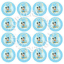 mickey mouse 1st birthday 16x edible baby mickey mouse 1st birthday cupcake toppers wafer