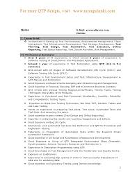 Download Work Experience Resume Haadyaooverbayresort Com by Qtp Resume Qtp Resume Qtp Sample Resume Download Qtp Test
