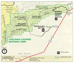 New Mexico On The Map Carlsbad Caverns Maps Npmaps Com Just Free Maps Period