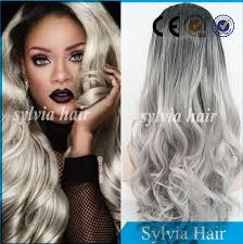 black at root of hair factory price natural black root grey ombre color body wave