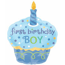 1st birthday 1st birthday cupcake boy shape foil balloon