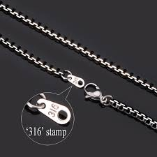 titanium link necklace images Men 39 s jewelry box link chain 316l titanium stainless steel jewelry jpg