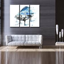 peinture pour bureau blues piano dans la neige élégance artistiquement peinture hd