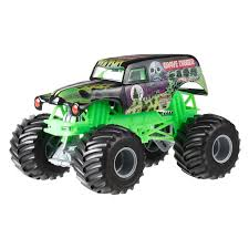 grave digger 30th anniversary monster truck toy wheels monster jam grave digger green jakobs monster trucks